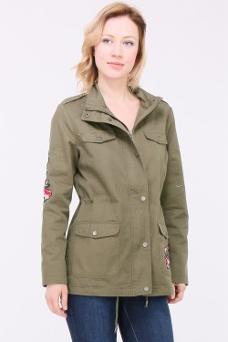 Veste patch brodé
