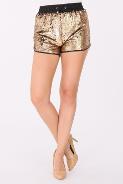 Short paillettes