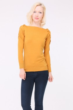 Pull lacet maille fine