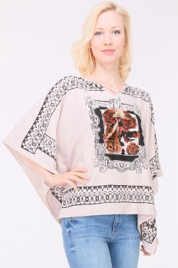 Pull poncho maille fine