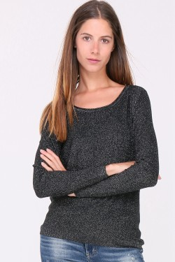 Pull lurex dos ouvert