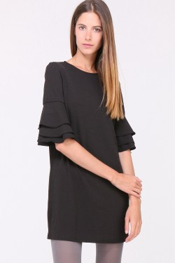 Robe manches froufrou