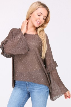 Pull fin paillettes