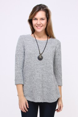 Pull fin avec collier