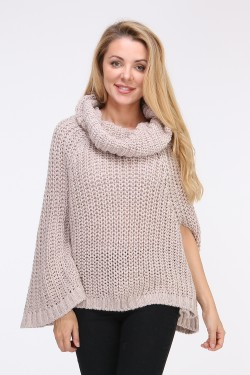 Poncho grosse maille