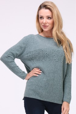 Pull relief maille