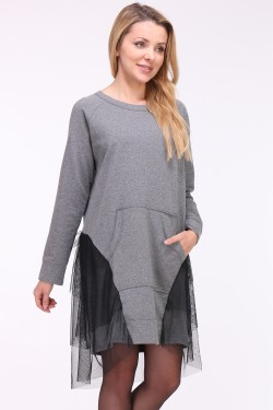 Pull robe bas tulle