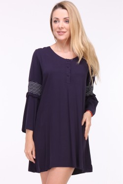 Mayfield robe fluide manches brodées
