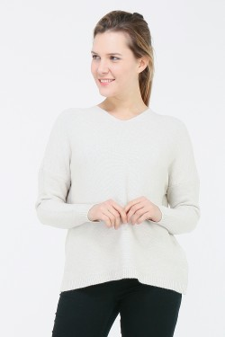 Pull maille avec capuche