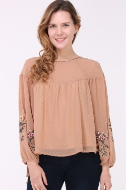 Wallace blouse brodé