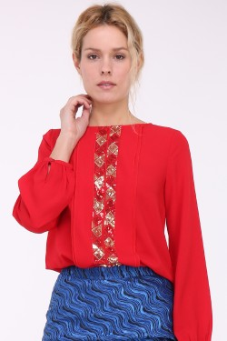 Blouse brodé de sequins