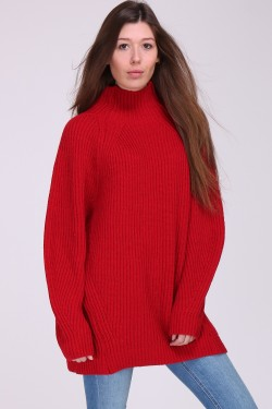 Pull robe grosse maille