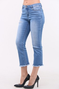 Jeans bootcut cropped