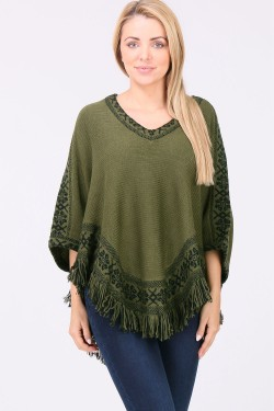 Pull cape grosse maille