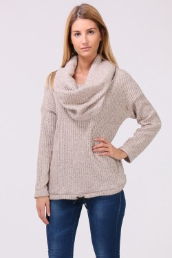 Pull manches long avec col