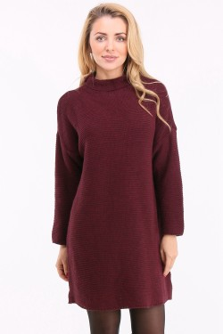Pull col montant long