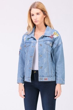 Veste denim patch