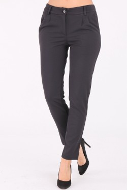 Pantalon slim a pinces 2 poches