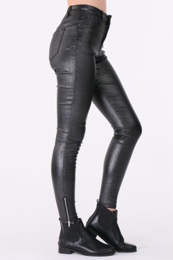 Pantalon imitaion cuir brillante