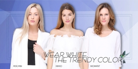 Wear white, the trendy color
