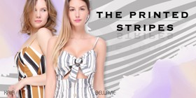 The printed stripes