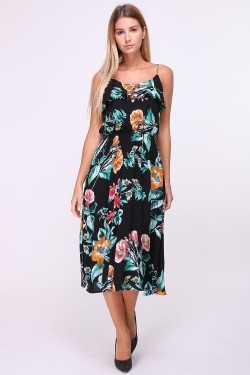 Printed mid-length dress
