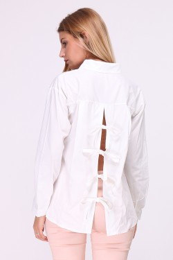 Cotton shirt to tie on the back