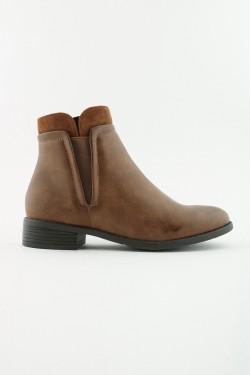 Imitation leather boots with zip