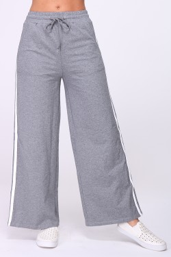Palazzo cotton trousers with drawstring