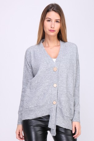 Cardigan boutons et poches