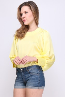 Blouse sleeves boules