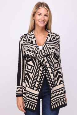 Gilet pull imprime  wool mixed