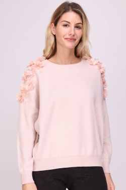 Jumper with fleurs