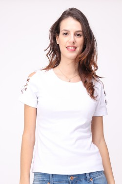 T-shirt with strass  cotton