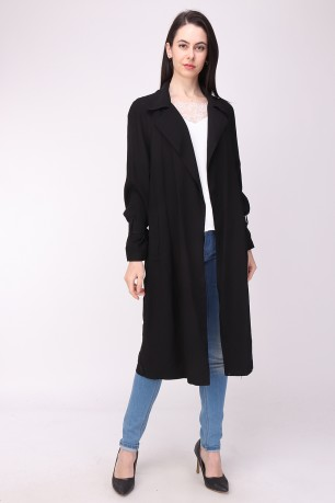 Manteau-trench popleen