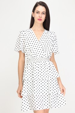 Dress a pois with volant