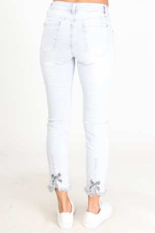 Trouser jeans strass  cotton
