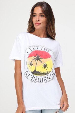 Tshirt let the sunshine in  cotton
