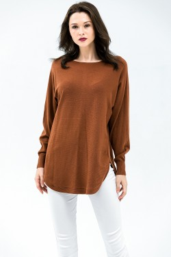 Pull oversize grande taille avec boutons au dos