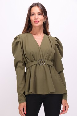 Blouse with sleeves bouffantes
