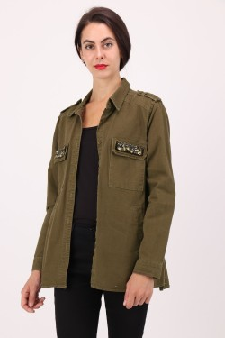 Jacket  cotton with strass