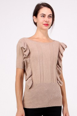 Jumper maille froufrous