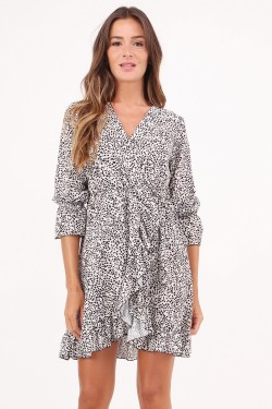 Dress printed  pois