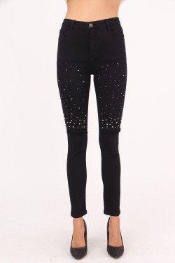 Jeans slim with strass  cotton