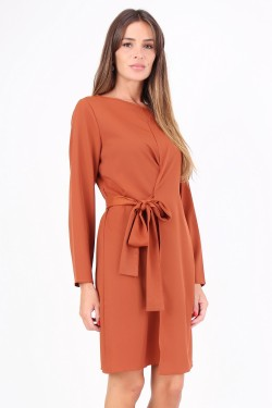 Tunic dress porte feuille with belt