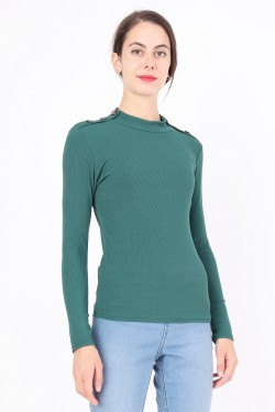 Top imprime ml v-necked lace