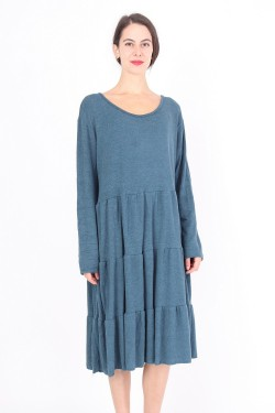 Soft sweater dress with layer effect