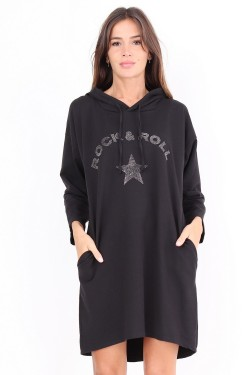 Robe sweat ROCK & ROLL