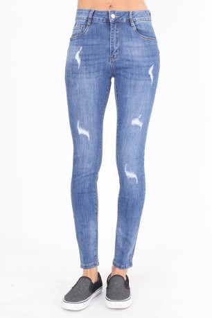 Jean skinny push up grande taille
