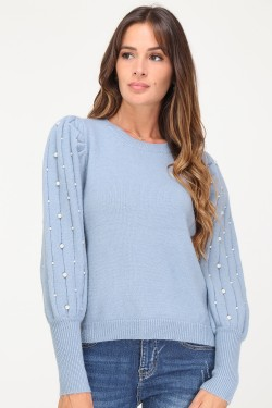 Jumper with perles sur les sleeves
